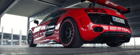 PD GT650 Rear Bumper with Side Air Intakes for Audi R8 Coupe/Spyder 42 Pre-facelift [2006-2014]