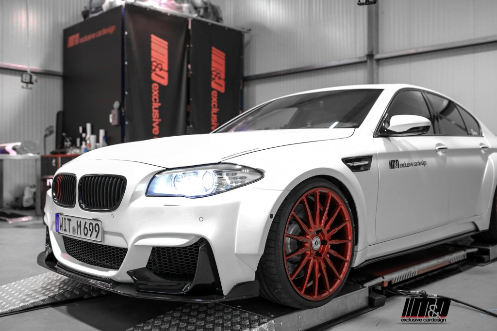 BMW M5 F10 Matt Skylight Blue Tuning - PDM5XX Widebody Aerodynamik-Kit / Bodykit