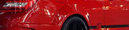 Black Edition Heckverbreiterungen inkl. Lufteinlass für Mercedes C Coupé C204