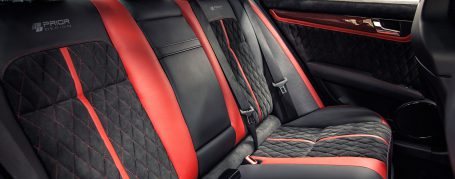 Mercedes C63 AMG W204 Leather / Alcantara Interior (Red & Black)