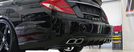 Black Edition V4 Heckstoßstange für Mercedes CL W216