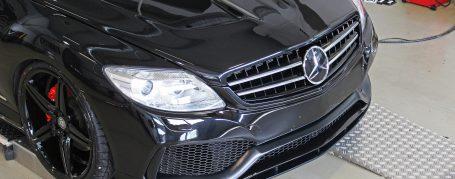 Black Edition V4 Frontstoßstange + Frontspoilerlippe für Mercedes CL W216