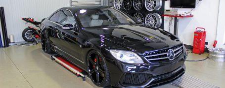 Black Edition V4 Front Bumper + Front Lip Spoiler for Mercedes CL C216
