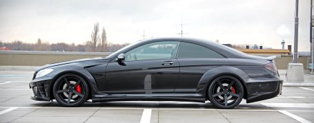Black Edition V2 Widebody Seitenschweller für Mercedes CL W216