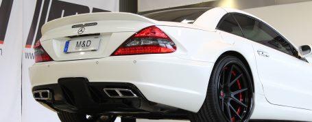 Black Edition Rear Bumper + Diffusor for Mercedes SL R230/R230FL