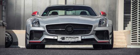 PD900GTWB Widebody Frontstoßstange inkl. Seitlichen Kiemen (4 Stück) für Mercedes SLS AMG Coupé C197
