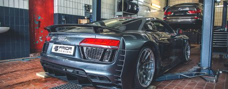 PD800WB Rear Bumper with Vents Inserts for Audi R8 4S Coupe/Spyder [2015+]