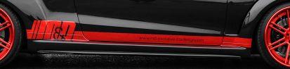 PD850 Black-Edition WB Seitenschweller für Mercedes E-Coupe / Cabrio C207 & S207