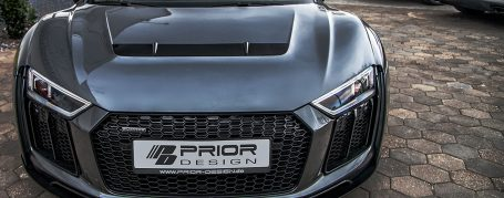 PD800WB Front Bumper with Vents Inserts for Audi R8 4S Coupe/Spyder [2015+]