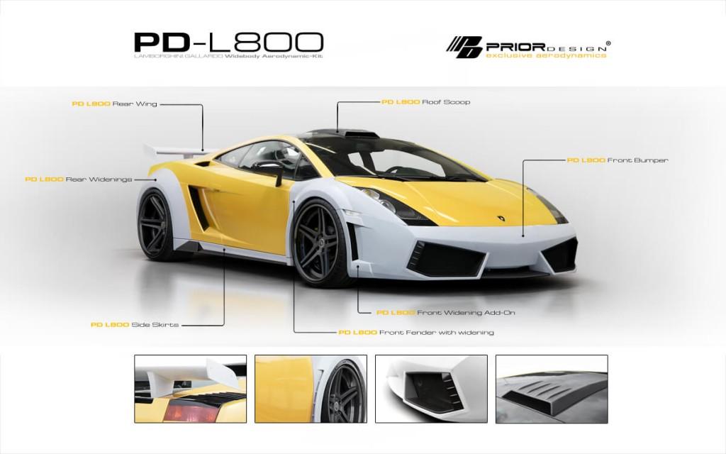 Lamborghini Gallardo Tuning Pd L800 Widebody Aerodynamic Kit M D