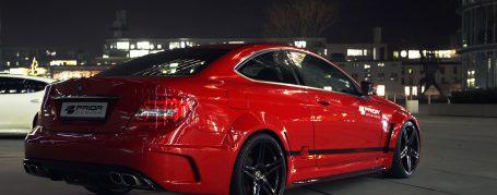 Black Edition Heckstoßstange inkl. Diffusor Mercedes C Coupé C204