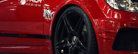 Black Edition Frontkotflügel inkl Lufteinlässen Mercedes C Coupé C204