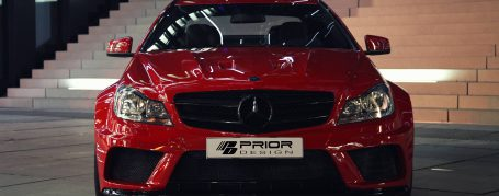 Mercedes C Coupé C204 Breitbau Tuning - Black Edition Widebody Aerodynamik-Kit