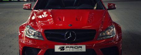 Black Edition Frontstoßstange für Mercedes C Coupé C204