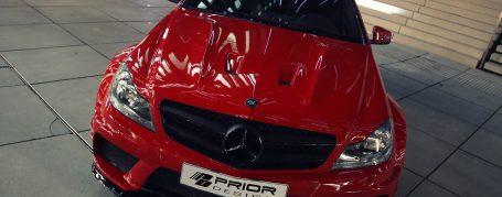Black Edition Motorhaubenaufsatz Mercedes C Coupé C204