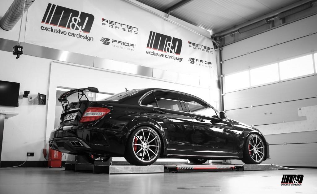 Mercedes C63 AMG W204 Tuning - Black Edition Widebody Aerodynamik-Kit