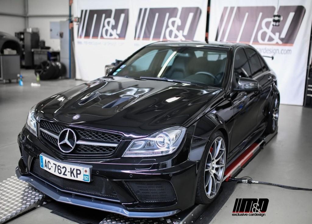 PD Black Edition Widebody Frontkotflügel für Mercedes C-Klasse W204