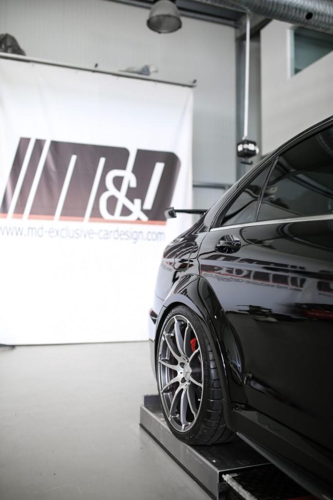 PD Black Edition Widebody Heckverbreiterungen für Mercedes C-Klasse W204