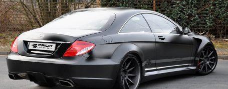 Black Edition V1 WB Heckstoßstange inkl. Diffusor für Mercedes CL C216