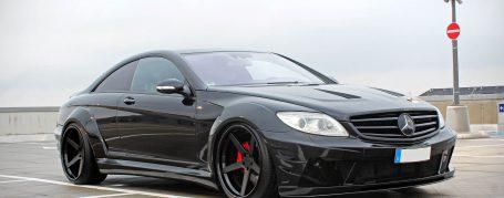 Black Edition V2 Widebody Front Bumper + Lip Spoiler for Mercedes CL C216