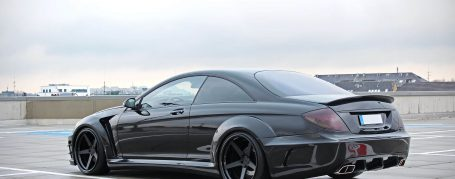 Black Edition V2 Widebody Rear Bumper with Diffusor for Mercedes CL C216