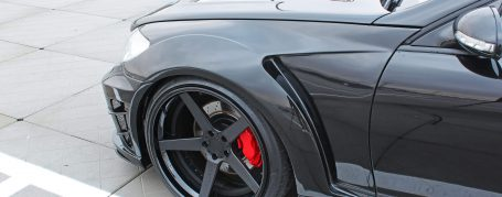 Black Edition V2 Widebody Frontkotflügel für Mercedes CL W216