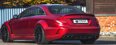 Black Edition V4 Widebody Rear Widenings for Mercedes CL C216