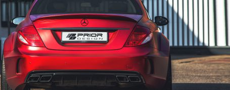 Black Edition V4 Widebody Rear Bumper with Diffusor for Mercedes CL C216