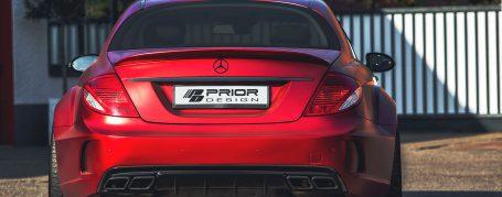 PD Black Edition V2 Widebody Rear Trunk Spoiler for Mercedes CL C216