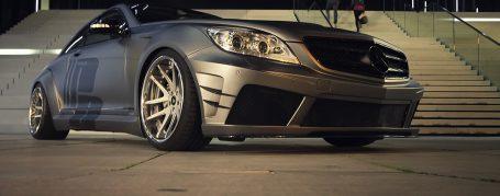 Black Edition V2 Widebody Frontstoßstange + Frontspoilerschwert für Mercedes CL W216 FL