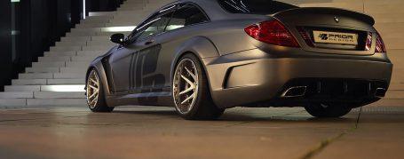 Black Edition Widebody Seitenwandverbreiterung hinten für Mercedes CL W216 FL