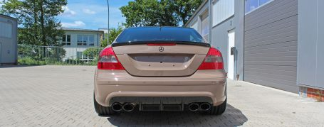 PD Black Edition Widebody Rear Bumper with Diffusor for Mercedes CLK W209