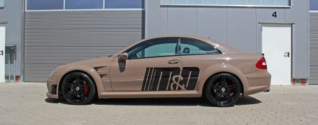 PD Black Edition Widebody Side Skirts (right/left) for Mercedes CLK W209