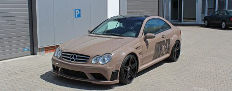 PD Black Edition Widebody Front Bumper for Mercedes CLK W209