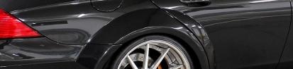 Black Edition Widebody Seitenwandverbreiterung hinten für Mercedes CLS W219