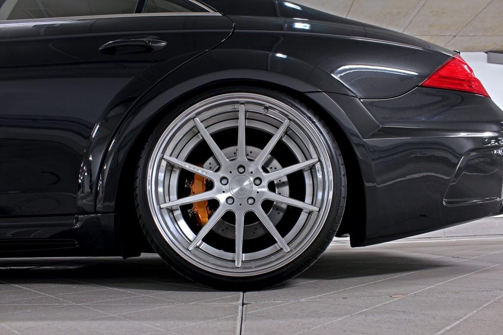 Black Edition WB Seitenwandverbreiterung hinten für Mercedes CLS W219
