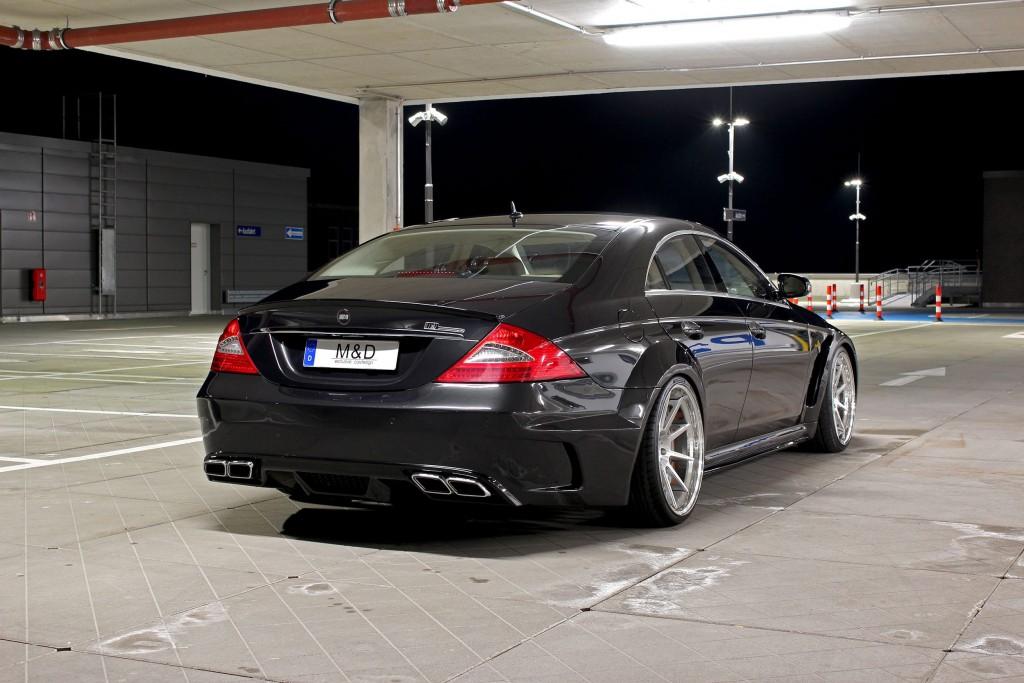 Black Edition WB Heckstoßstange für Mercedes CLS W219