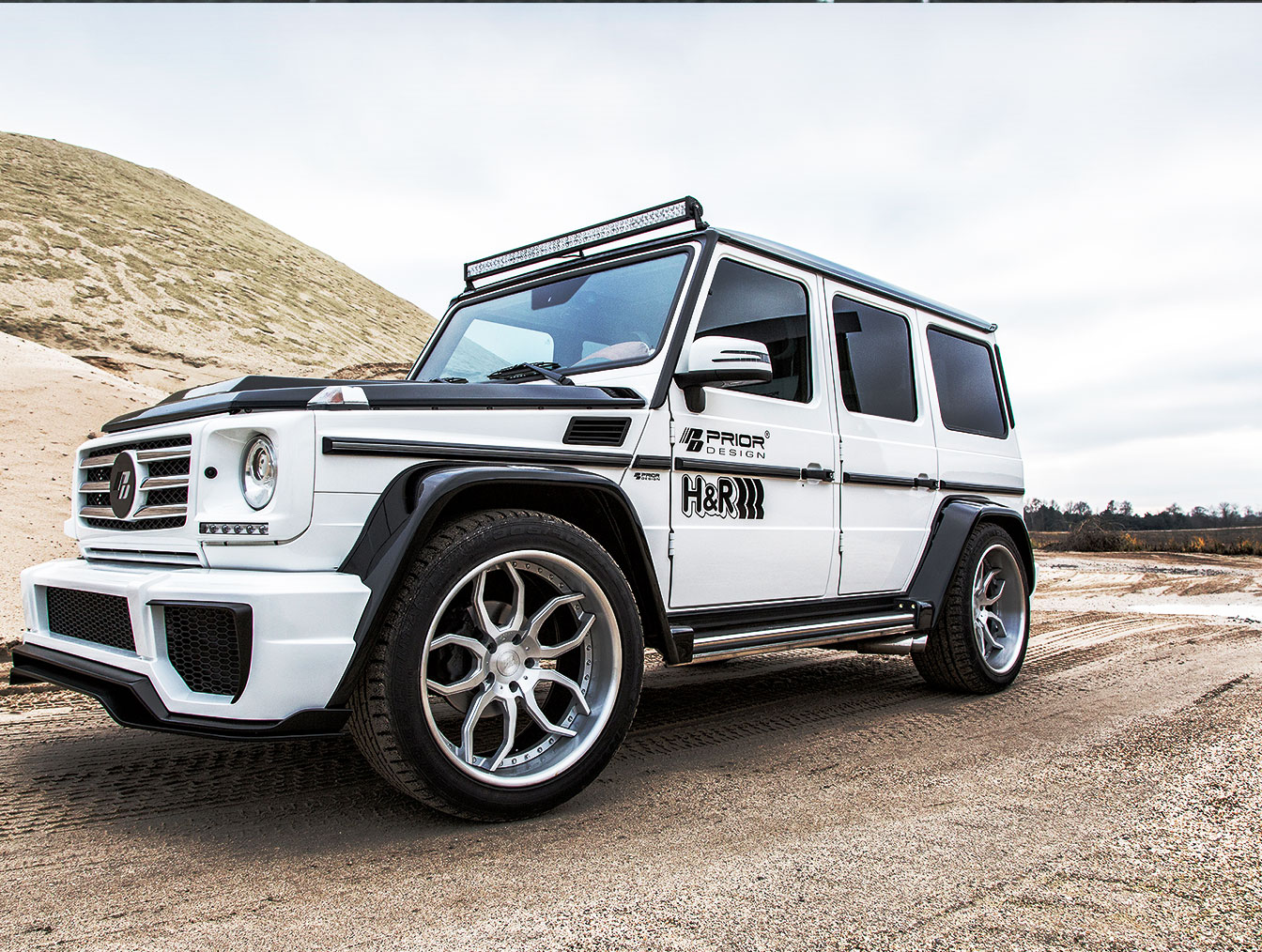 P650D Widebody Front & Rear Widenings for Mercedes G-Class W463