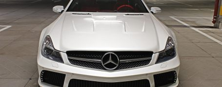 Black Edition Widebody Front Bumper for Mercedes SL R230/R230FL