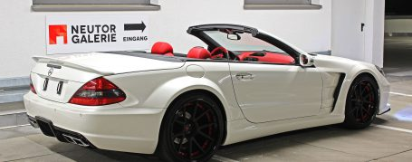 Black Edition Rear Bumper + Diffusor for Mercedes SL R230/R230FL