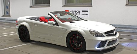 Black Edition Widebody Side Skirts for Mercedes SL R230/R230FL