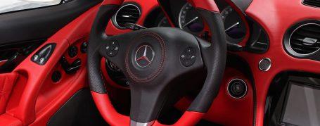 Mercedes SL R230 exklusives Interieur - Lamborghini rot & schwarzes Nappaleder