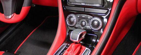 Mercedes SL R230 exclusive interior - Lamborghini red & black nappa leather