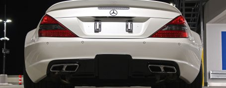 Black Edition Rear Trunk Spoiler for Mercedes SL R230/R230FL